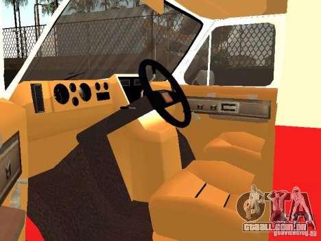 Chevrolet Van G20 LAFD para GTA San Andreas vista traseira