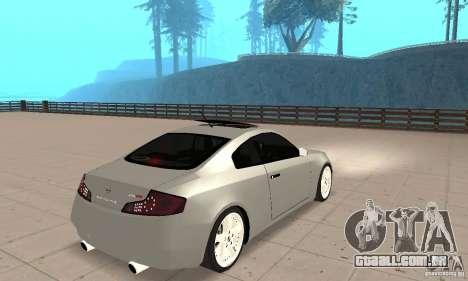 Nissan Skyline 350GT 2003 para GTA San Andreas esquerda vista