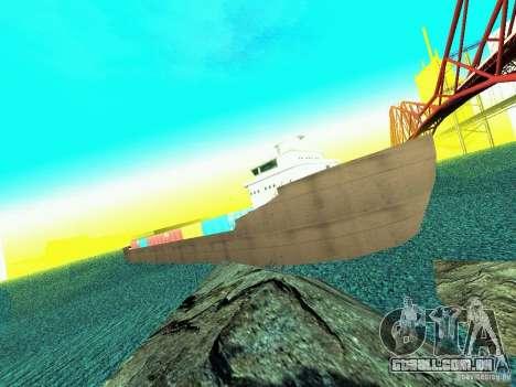 Drivable Cargoship para GTA San Andreas segunda tela