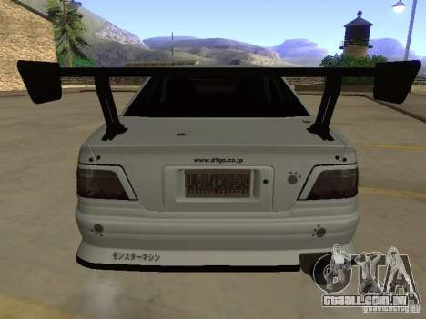 Toyota Chaser JZX100 Tuning by TCW para GTA San Andreas vista inferior