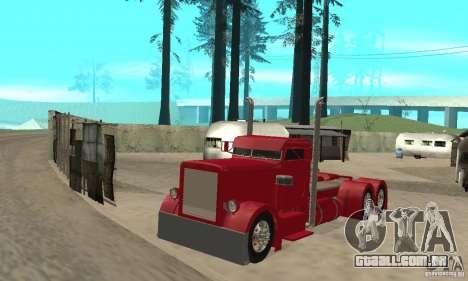 Peterbilt Coupe para GTA San Andreas esquerda vista