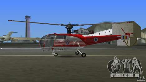 IAR 316B Alouette III SMURD para GTA Vice City vista traseira esquerda