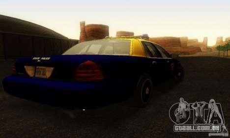 Ford Crown Victoria West Virginia Police para GTA San Andreas esquerda vista