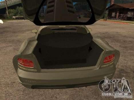 Dodge Viper Coupe 2008 para GTA San Andreas vista traseira
