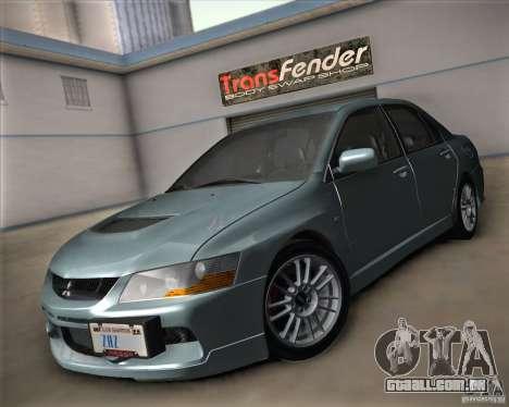 Mitsubishi Lancer Evolution IX Tunable para GTA San Andreas vista traseira