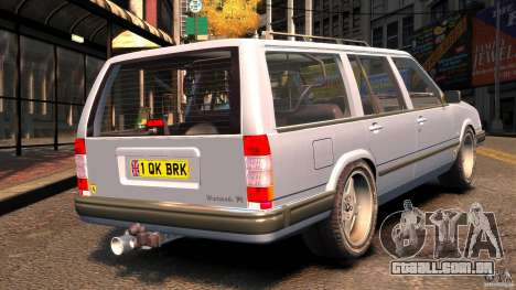 Volvo 945 Wentworth R Ridiculous Drift para GTA 4 traseira esquerda vista