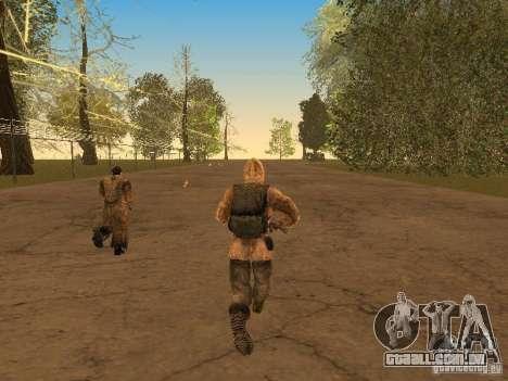 Cicatriz de pele de um stalker para GTA San Andreas por diante tela