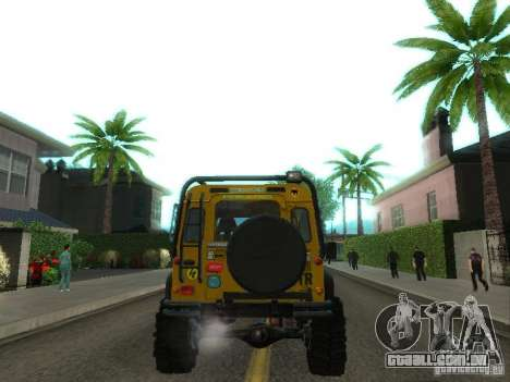 Land Rover Defender Off-Road para GTA San Andreas vista direita