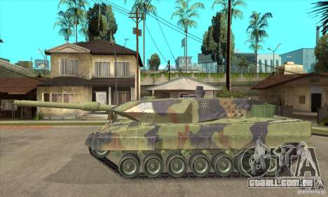 Leopard 2 A6 para GTA San Andreas esquerda vista