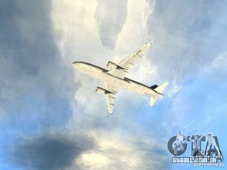 Airbus A320 Air France para GTA San Andreas vista superior