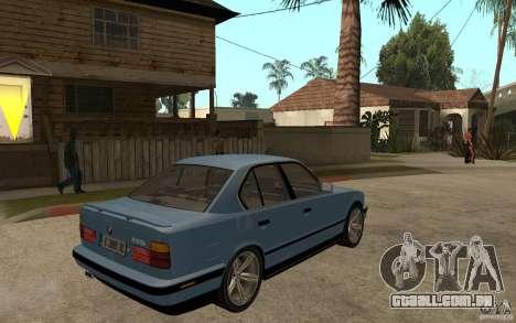 BMW E34 535i 1994 para GTA San Andreas vista direita
