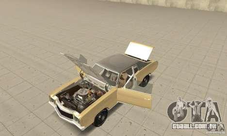 Chevy Monte Carlo [F&F3] para GTA San Andreas vista traseira