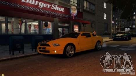Ford Shelby Mustang GT500 2011 v2.0 para GTA 4 vista interior