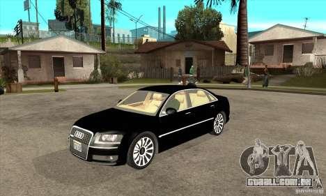 Audi A8 de transportadora 3 para GTA San Andreas
