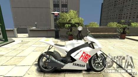 Yamaha YZR M1 MotoGP 2009 para GTA 4 esquerda vista
