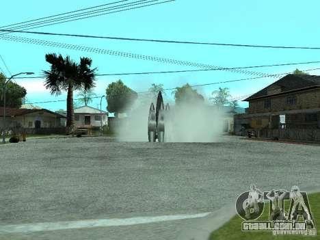 Voo para o espaço para GTA San Andreas segunda tela