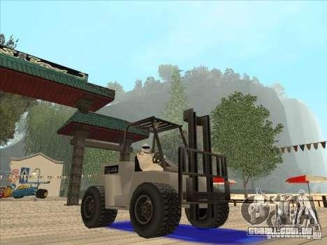 Forklift extreem v2 para GTA San Andreas vista direita