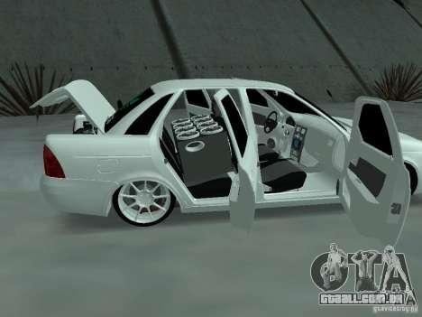 Lada Priora Adidas para GTA San Andreas vista interior