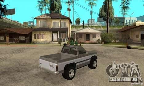 Ford Ranger para GTA San Andreas vista traseira