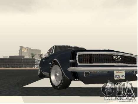 Chevrolet Camaro SS 396 Turbo-Jet para GTA San Andreas traseira esquerda vista