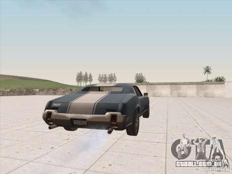Sabre HD para GTA San Andreas esquerda vista