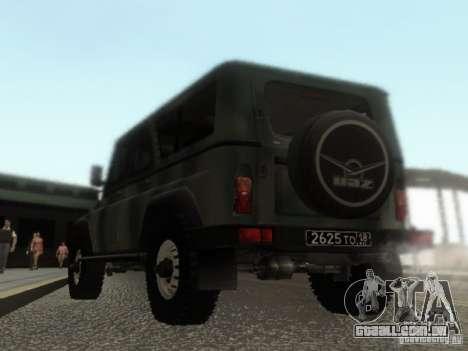 UAZ-3153 para GTA San Andreas traseira esquerda vista