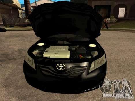 Toyota Camry 2010 para GTA San Andreas vista direita