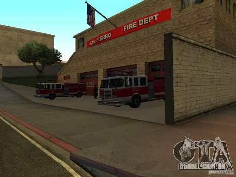 Firehouse vibrante em SF para GTA San Andreas terceira tela