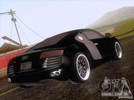 Audi R8 Hamann para GTA San Andreas vista inferior