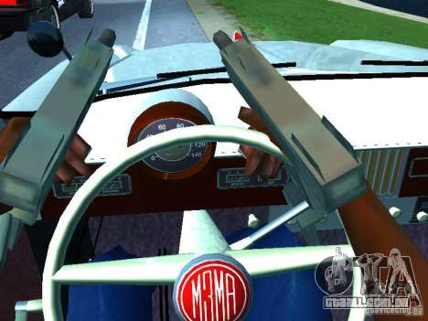 Moskvitch 403 com polícia para vista lateral GTA San Andreas