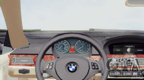BMW 330i e90 para GTA San Andreas traseira esquerda vista
