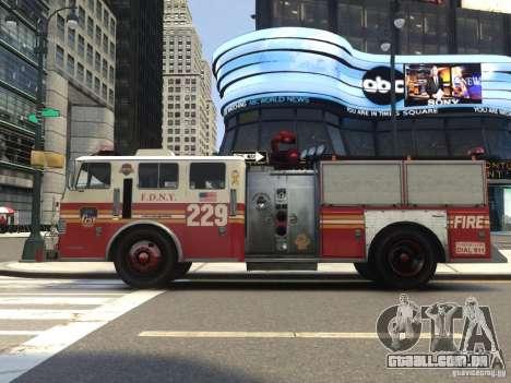 Fire Truck FDNY para GTA 4 vista de volta