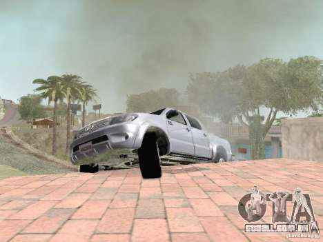 Toyota Hilux para GTA San Andreas vista superior