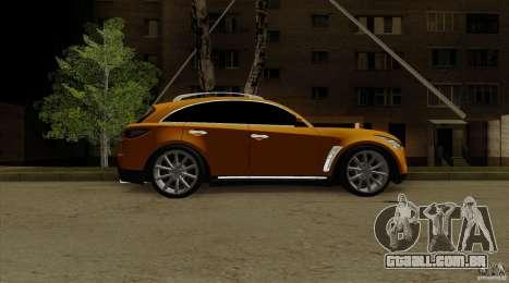 Infiniti FX37 v1 para GTA San Andreas traseira esquerda vista