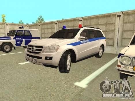 Mercedes Benz GL500 polícia para GTA San Andreas