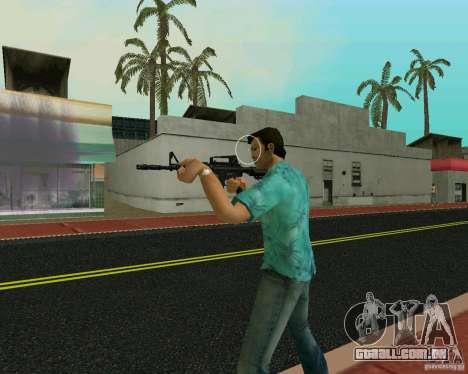 M4A1 para GTA Vice City por diante tela