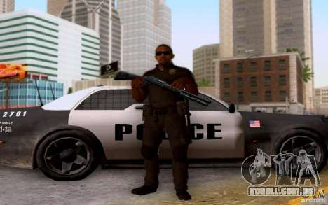 Um policial de CoD: BO2 para GTA San Andreas