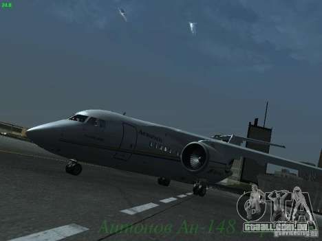 Antonov an-148 Aerosvit Ukrainian Airlines para GTA San Andreas esquerda vista
