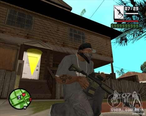 HQ M4A1 - DMG MK11 para GTA San Andreas terceira tela