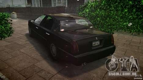 Washington FBI Car para GTA 4 traseira esquerda vista