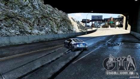 Audi R8 Spider 2011 para GTA 4 vista inferior