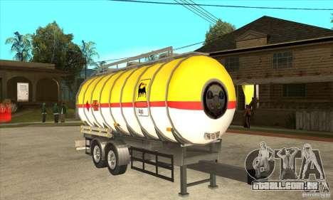 Trailer Tunk para GTA San Andreas vista traseira