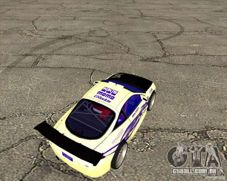 Mitsubishi Eclipse street tuning para GTA San Andreas traseira esquerda vista