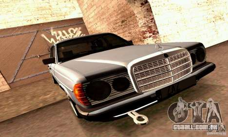 Mercedes Benz W123 para vista lateral GTA San Andreas