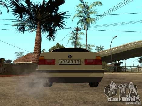 BMW 520i para GTA San Andreas traseira esquerda vista
