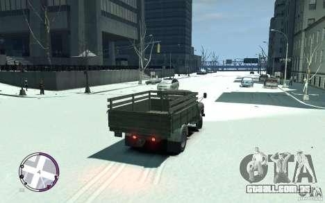 GAZ 53 para GTA 4 traseira esquerda vista