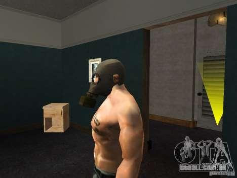 Máscara de gás para GTA San Andreas terceira tela