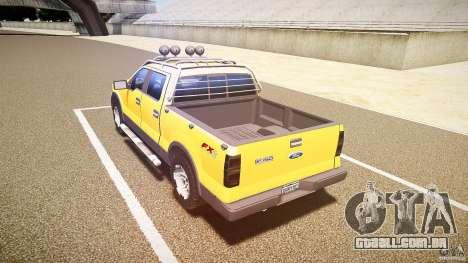 Ford F150 FX4 OffRoad v1.0 para GTA 4 traseira esquerda vista