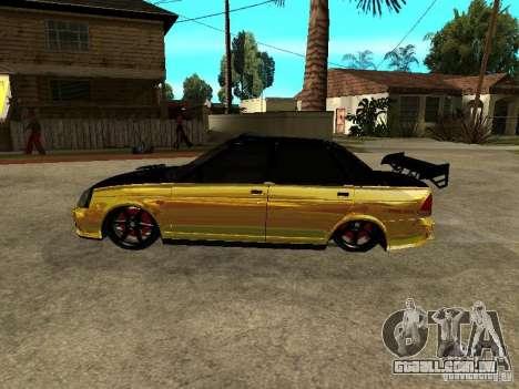 Lada 2170 Priora GOLD para GTA San Andreas traseira esquerda vista