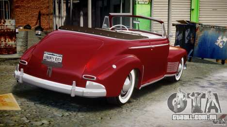 Chevrolet Special DeLuxe 1941 para GTA 4 vista lateral